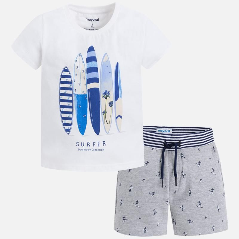 boy surf shorts set