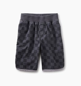 master print piped shorts