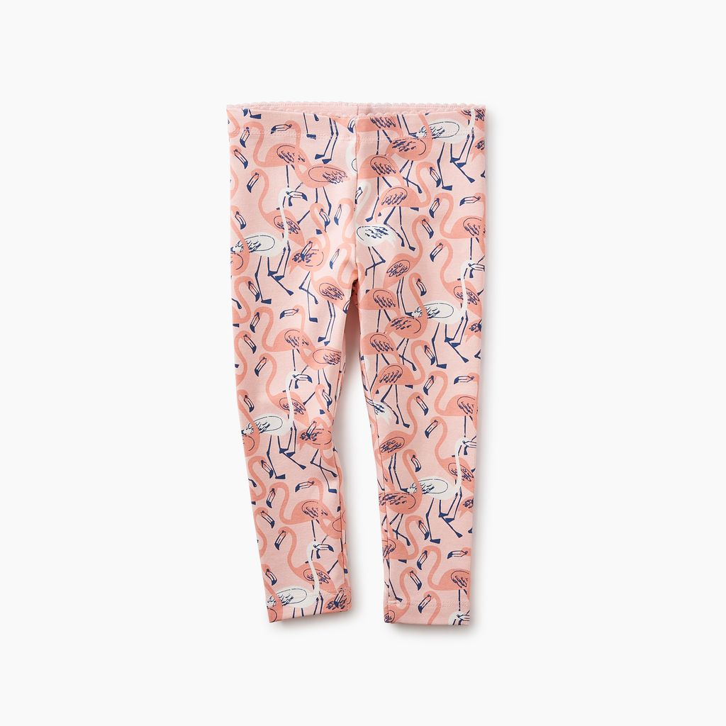 little girl flamingo baby leggings