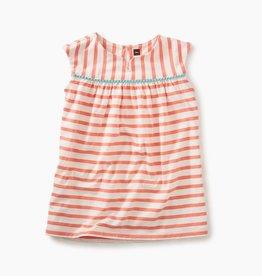 little girl pom pom trimmed dress