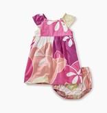 master floral flutter sleeve baby dress
