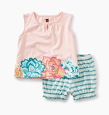 master floral ruffle bloomer baby outfit