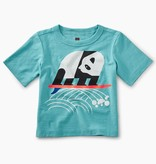 master surfing panda graphic baby tee