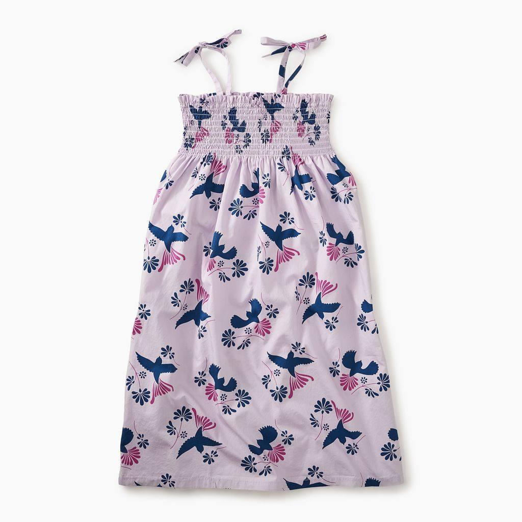 master tie shoulder midi-length dress