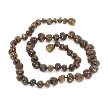 jewelry momma goose amber teething necklace