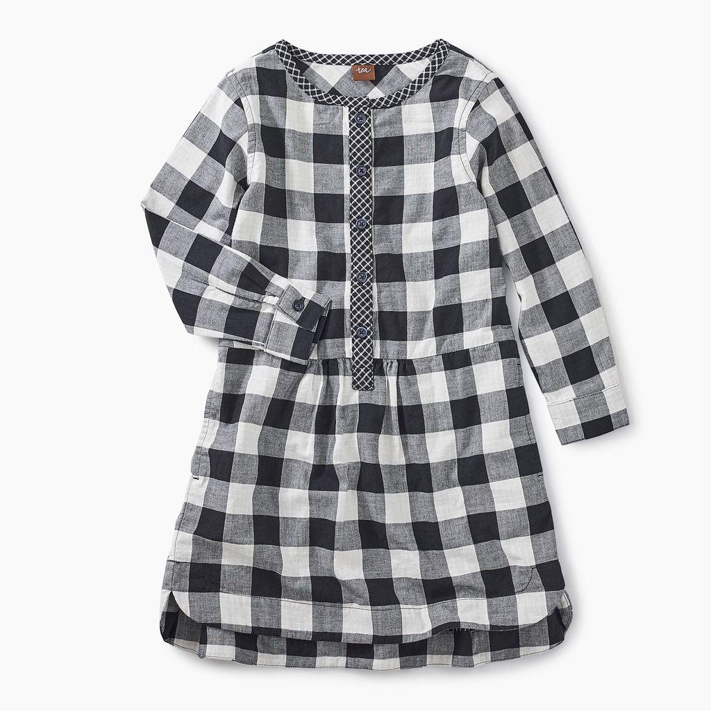 master checkered plaid shirtdress