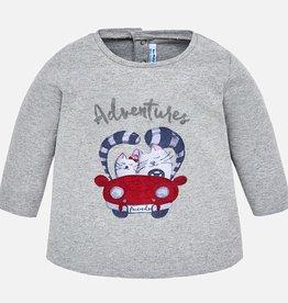 little girl l/s kitty t-shirt