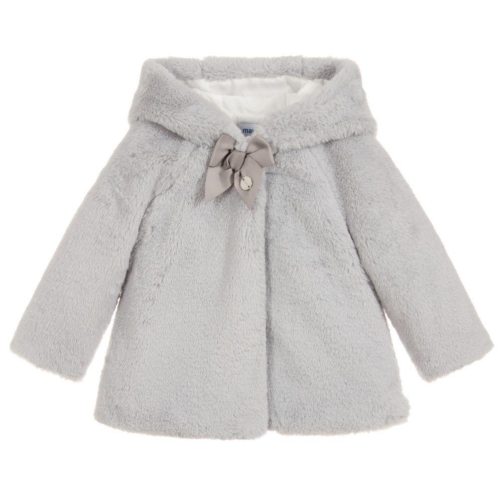 little girl mayoral fur coat