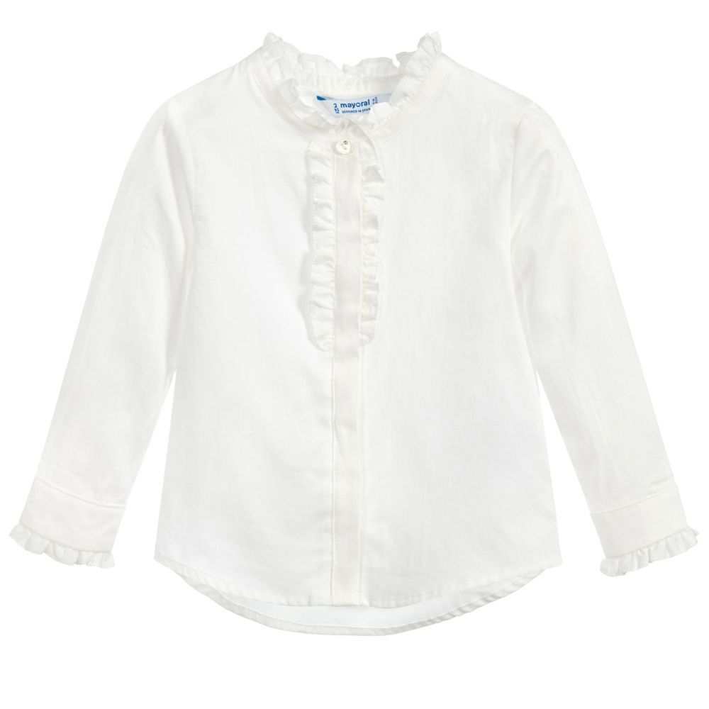 girl mayoral ruffle blouse