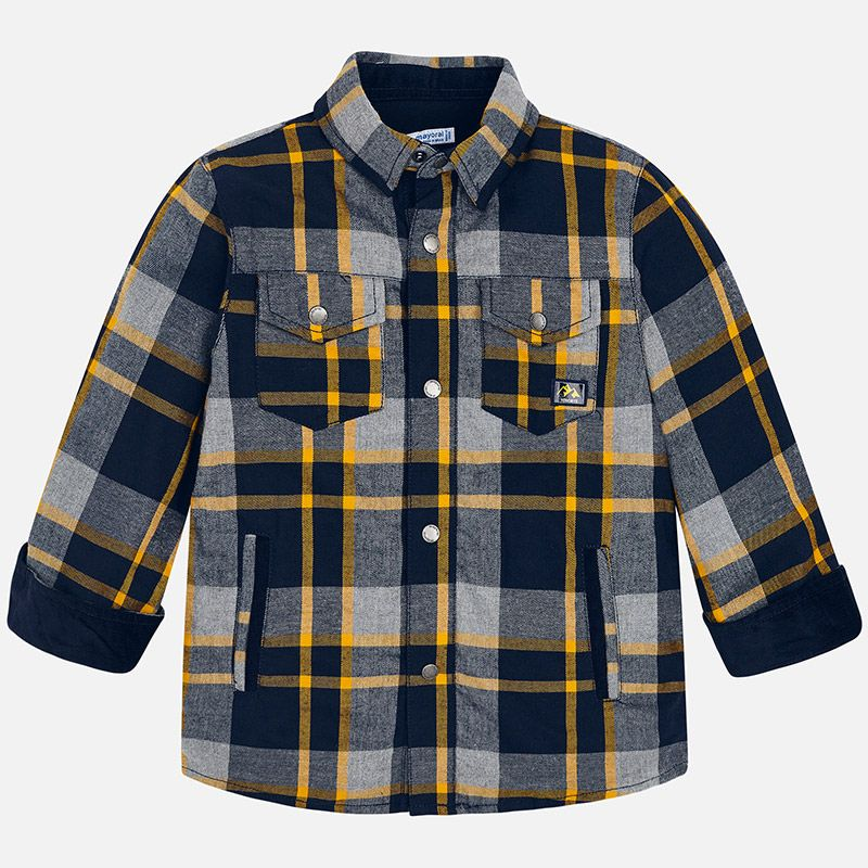 boy mayoral plaid jacket