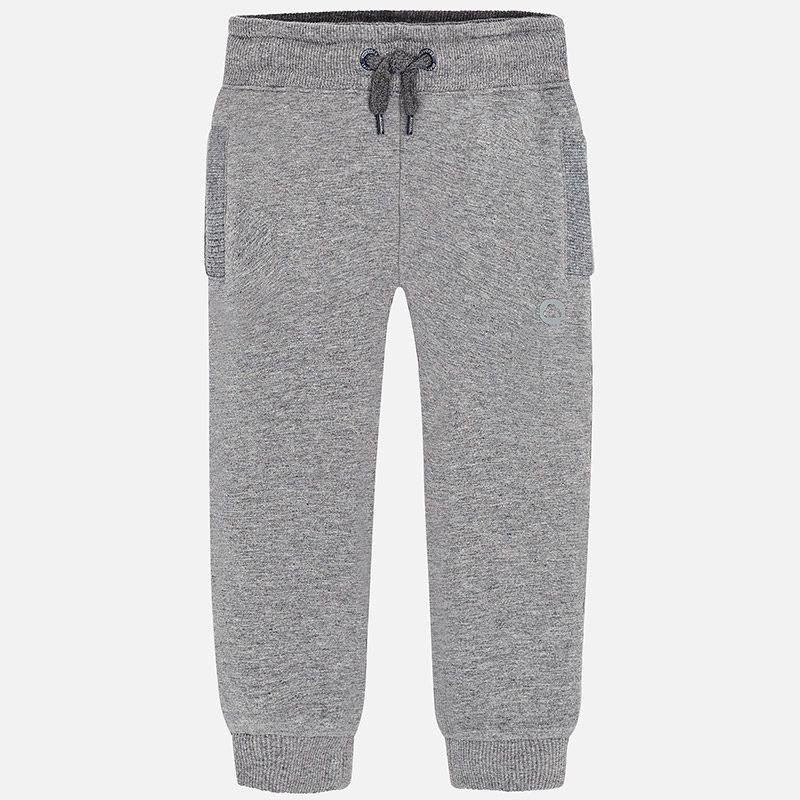 boy basic cuffed fleece trousers