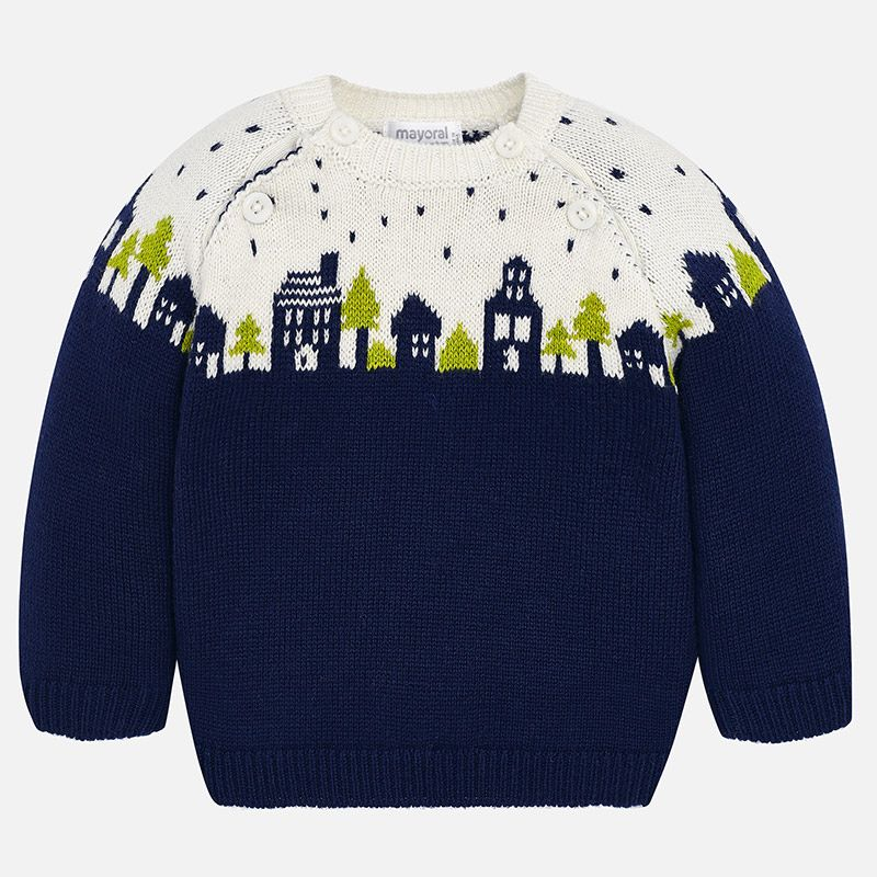 little boy mayoral jacquard sweater