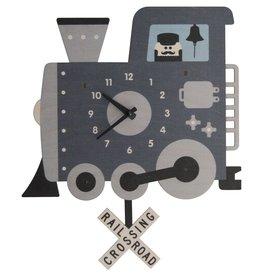 decor modern moose train pendulum clock