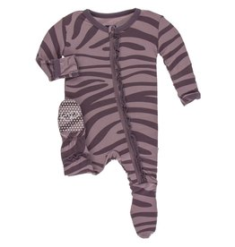 baby kickee pants print ruffle footie