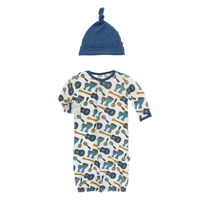 baby kickee pants gown converter & hat set (more colors)