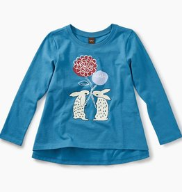 master floral rabbits twirl top