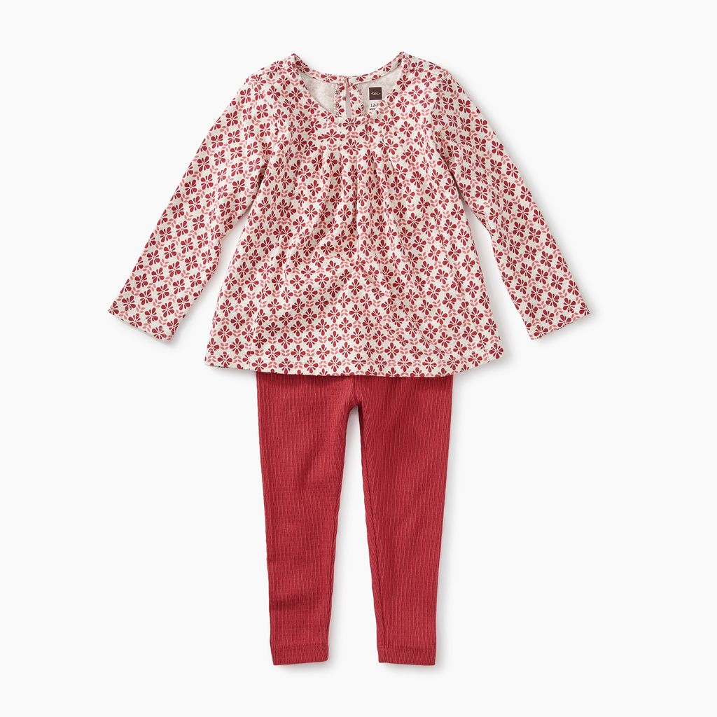 master pleated top baby set