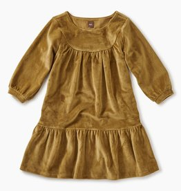 master velour ruffle dress