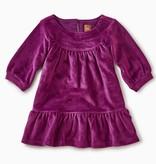 master velour ruffle baby dress