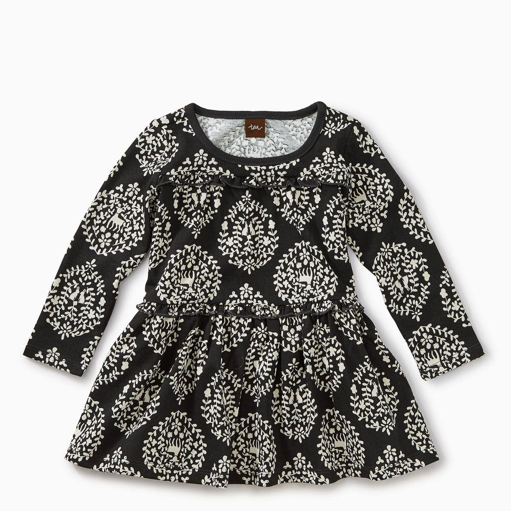 master patterned tiered dress
