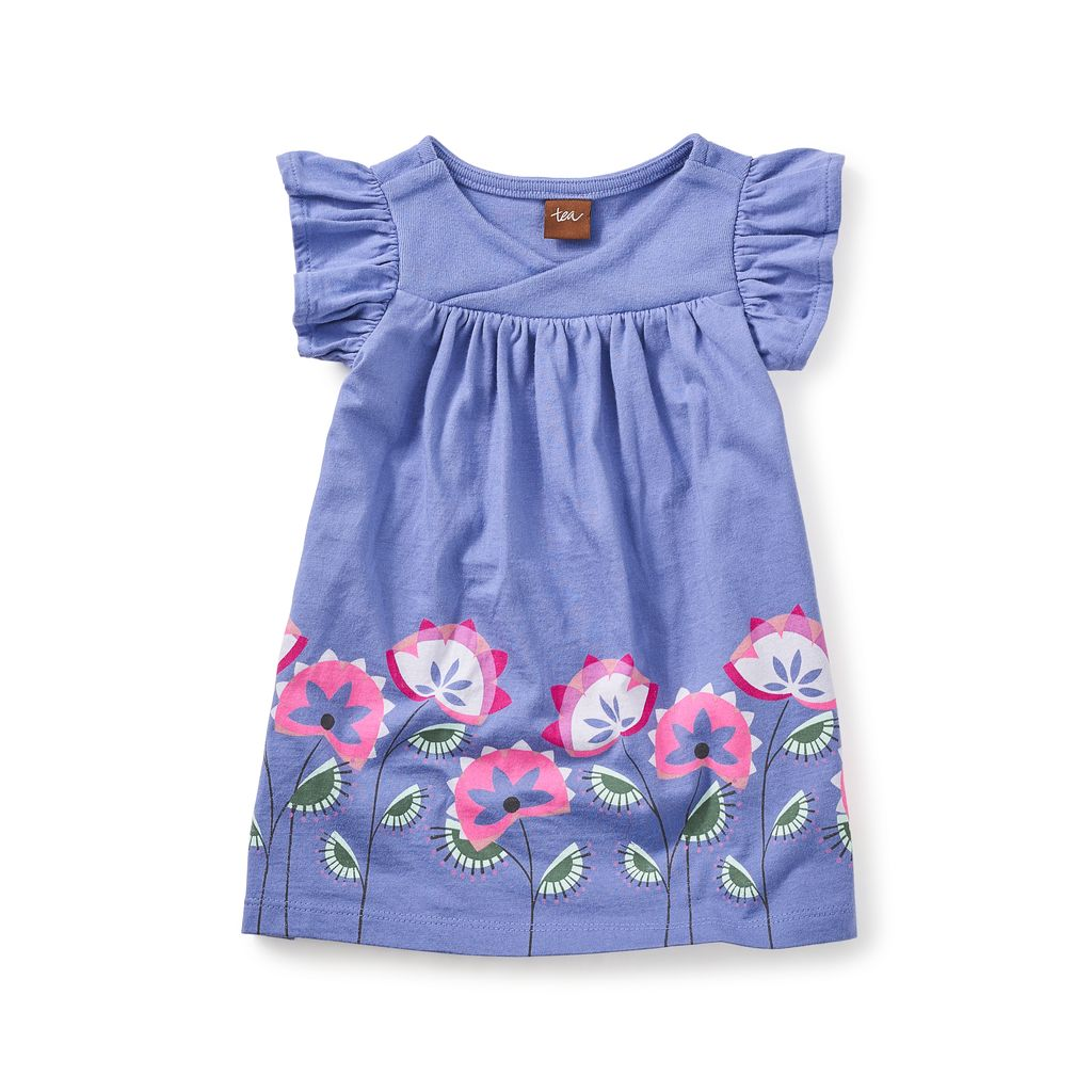 master *sale* tea collection amby wrap neck baby dress