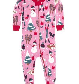 baby girl *sale* hatley vintage holiday footed coverall
