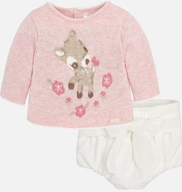 little girl mayoral bloomer & sweater set