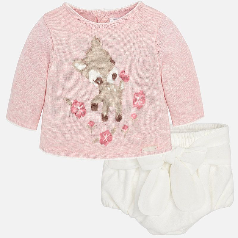 little girl mayoral bloomer & sweater set