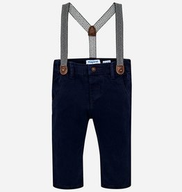 little boy mayoral lined pants with suspenders