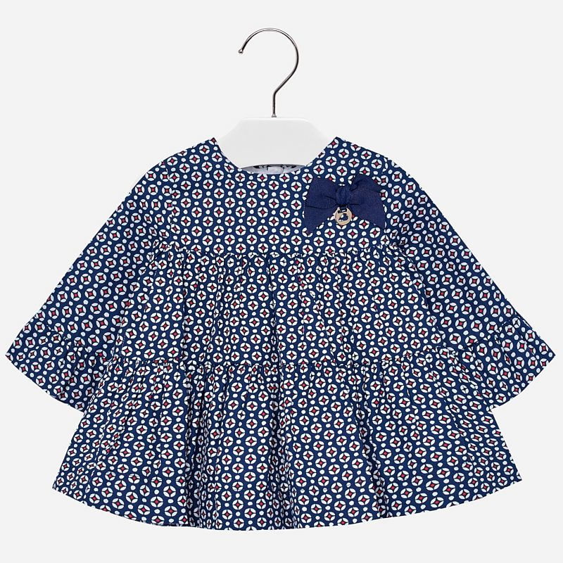 little girl mayoral ruffle print dress