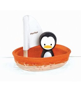 playtime plantoys sailing boat - penguin 12m+