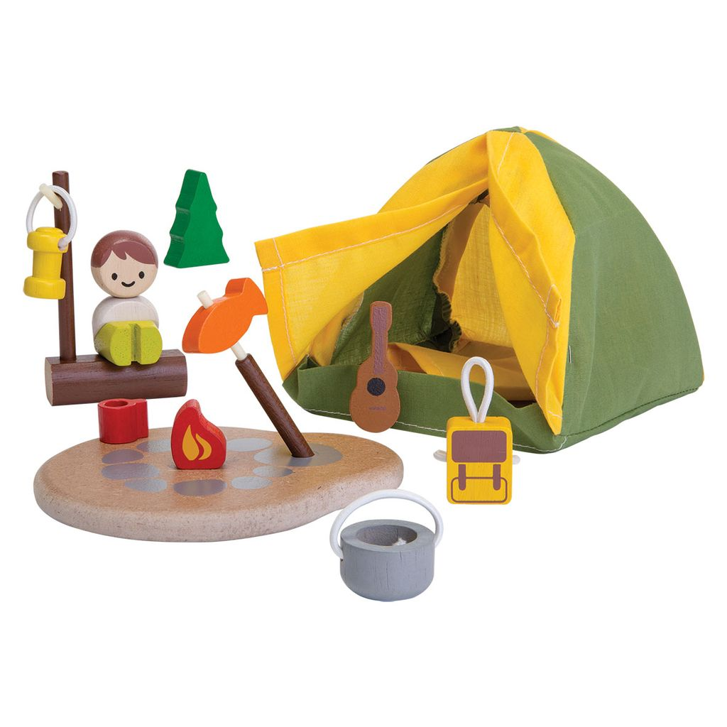 playtime plantoys planworld camping set 3y+
