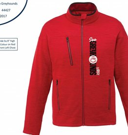 Red Full Zip Fleece Jacket L