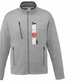 Mens Grey Full Zip Fleece Jacket L