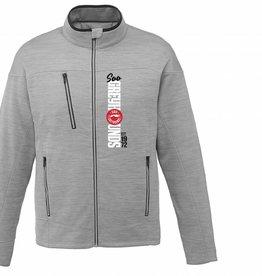 Mens Grey Full Zip Fleece Jacket M