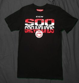 CCM Strike Through Black T-Shirt - L