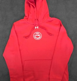 Under Armour Ladies Red Hustle Hoody - L