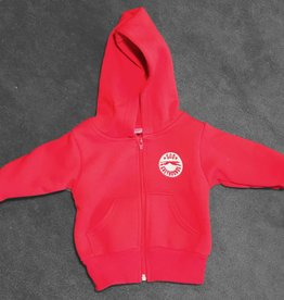 Red Full Zip Infant Hoody - 18-24