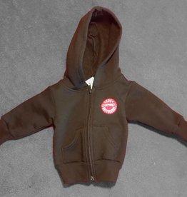 Black Infant Full Zip Hoody - 6-12 months