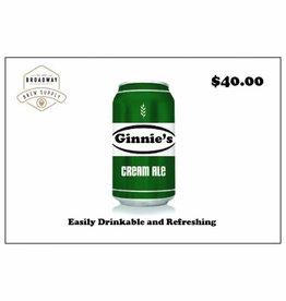 Ginnie's Cream Ale 5 Gal Beer Recipe Kit