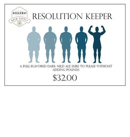 Resolution Keeper 5 Gal Beer Recipe Kit