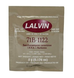 71B-1122, Lalvin Dry Wine Yeast, 5 g - Each