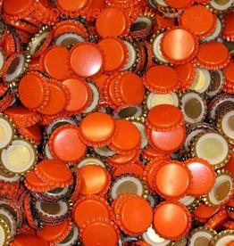 Orange Crown Bottle Caps