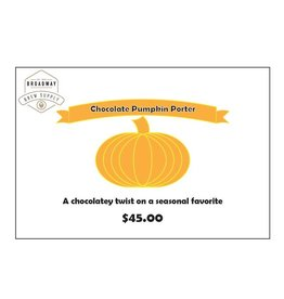 Chocolate Pumpkin Porter 5 Gallon Beer Recipe Kit