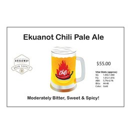 Ekuanot Chili Pale Ale 5 Gal Beer Recipe Kit
