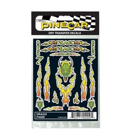 Pine Car (PIN) Dry Transfer Decals Drago