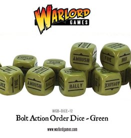Warlord Games (WLG) Bolt Action Orders Dice Green