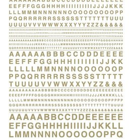 Woodland Scenics (WOO) Dry Transfer Gothic Letters, Gold