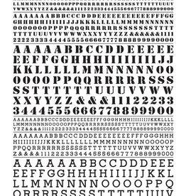 Woodland Scenics (WOO) Dry Transfer Roman Stencil/Block Letters, Black