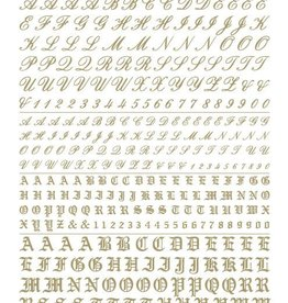 Woodland Scenics (WOO) Dry Transfer Script/Old English Letters, Gold